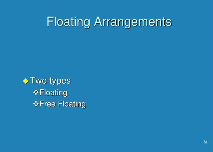 Floating Arrangements