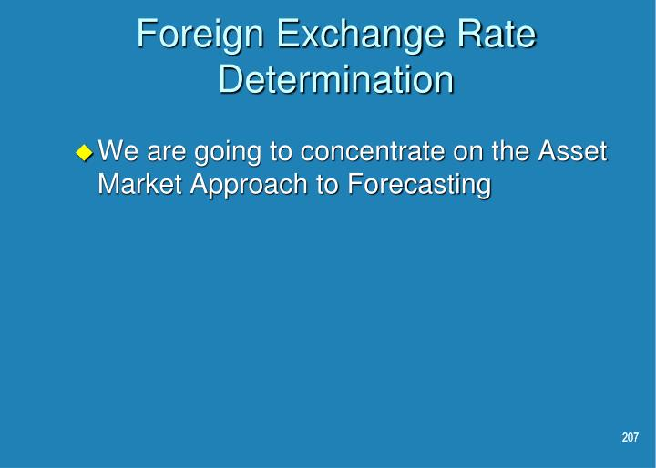 Foreign Exchange Rate Determination