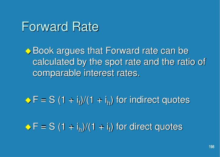 Forward Rate
