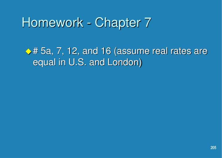 Homework - Chapter 7