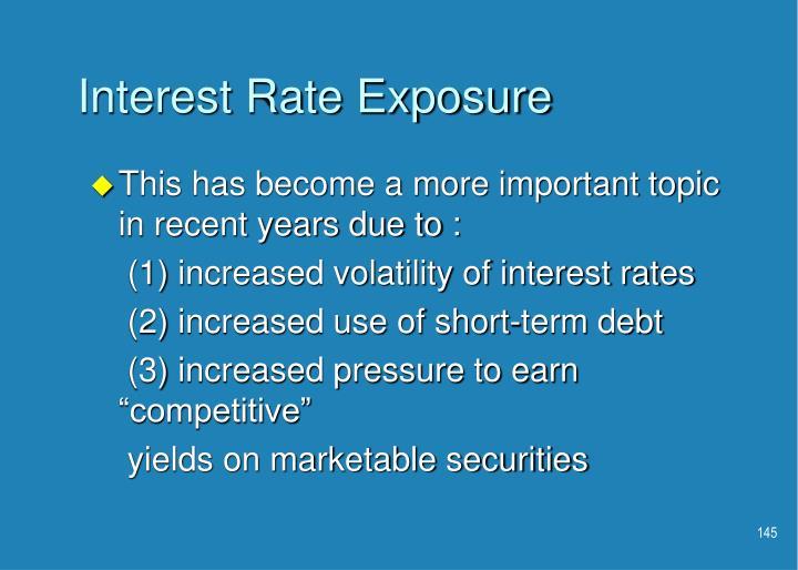 Interest Rate Exposure