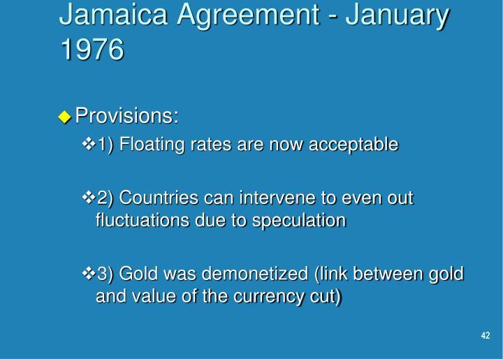 Jamaica Agreement - January 1976