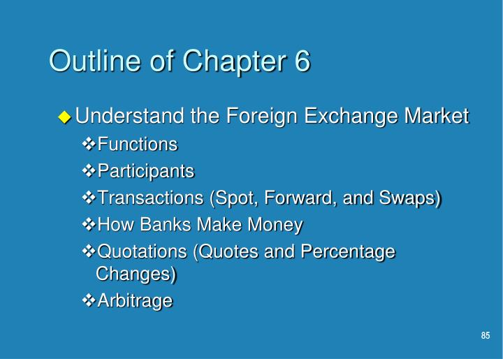 Outline of Chapter 6