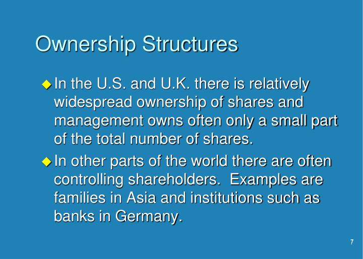 Ownership Structures