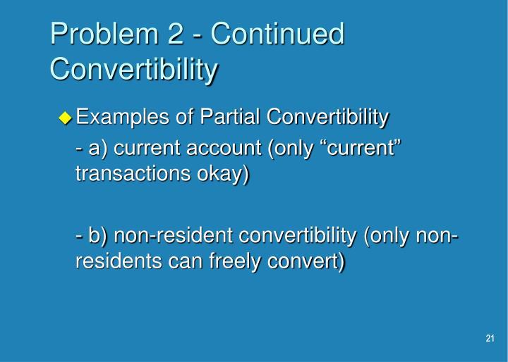 Problem 2 - Continued