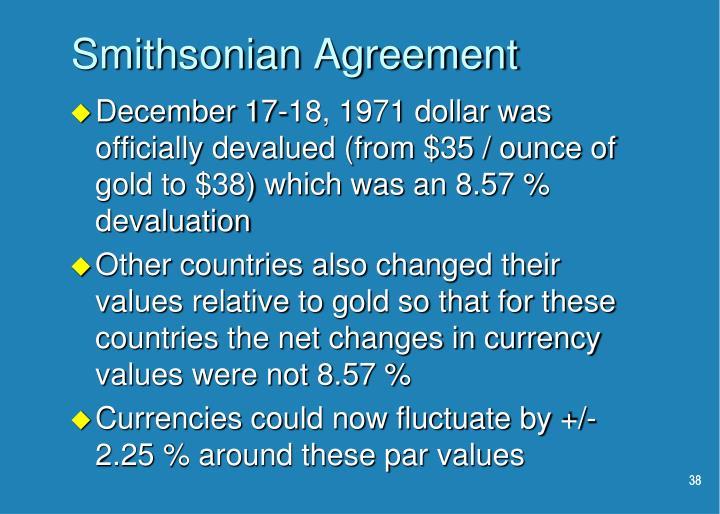 Smithsonian Agreement