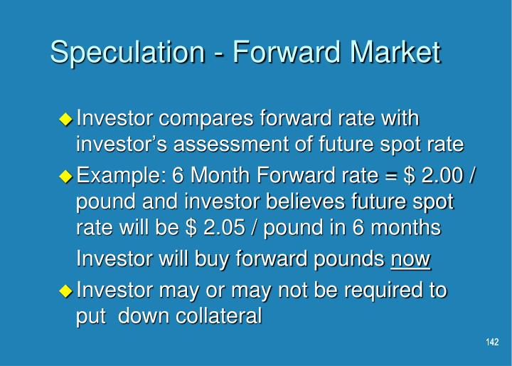 Speculation - Forward Market