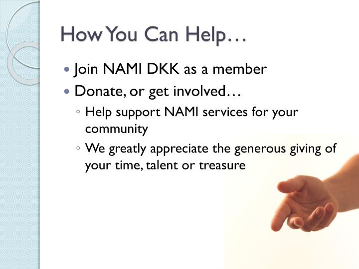 How You Can Help…