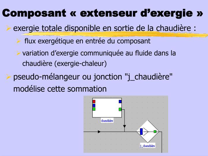 Composant « extenseur d'exergie»
