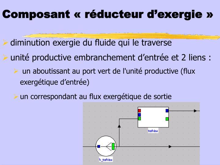 Composant «réducteur d'exergie»