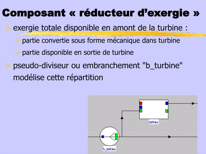 Composant « réducteur d'exergie»