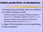 unit s productives et dissipatives