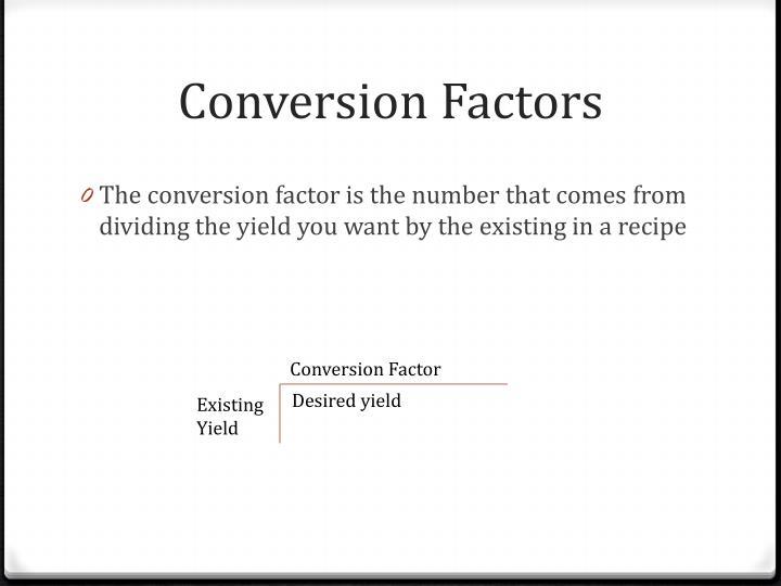 Conversion Factors