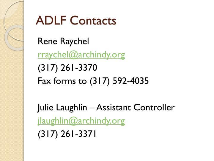 ADLF Contacts