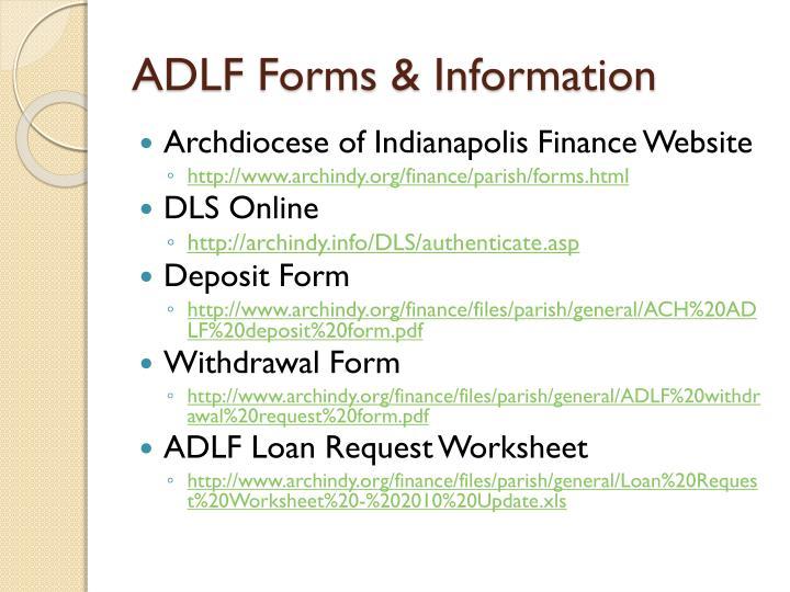 ADLF Forms & Information