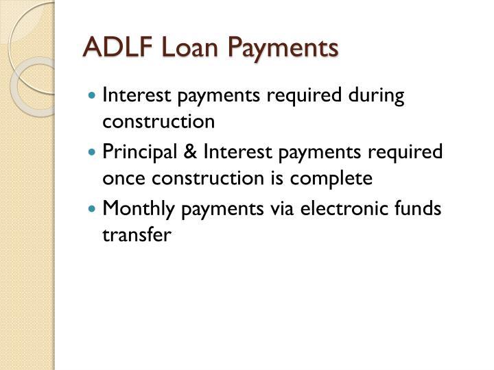 ADLF Loan Payments