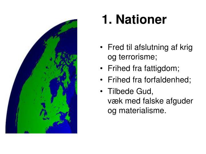 1. Nationer