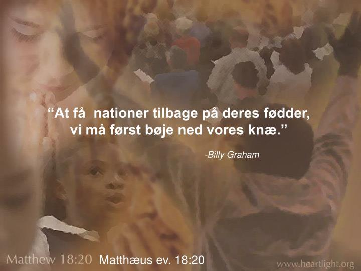 """""""At få  nationer tilbage på deres fødder,"""