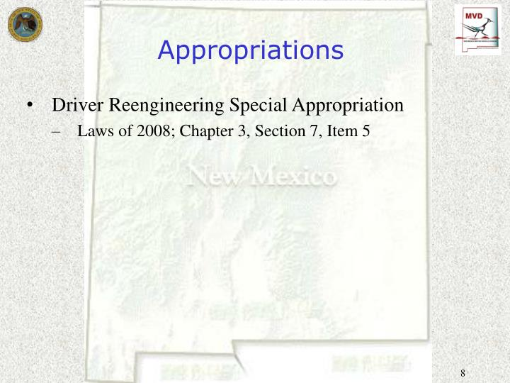 Appropriations