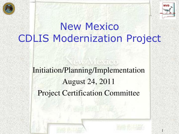 New mexico cdlis modernization project