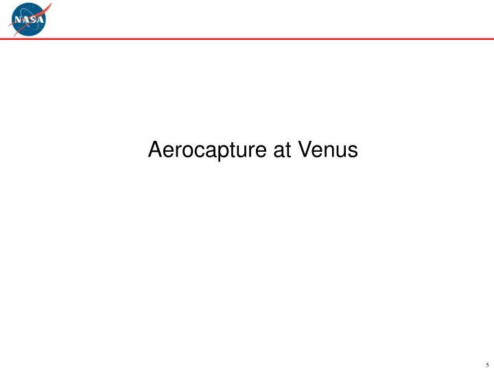 Aerocapture at Venus