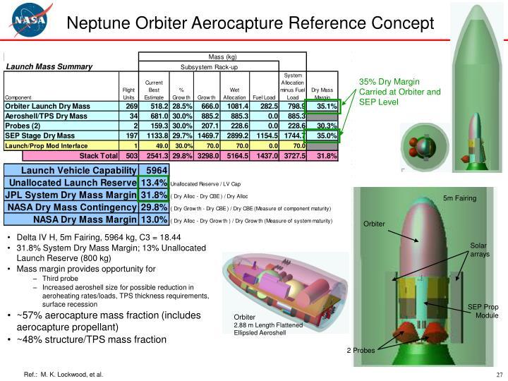 Neptune Orbiter Aerocapture Reference Concept
