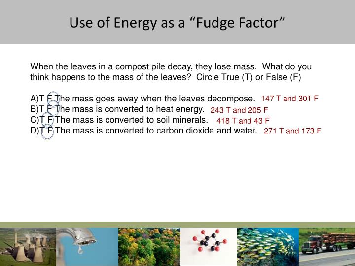 "Use of Energy as a ""Fudge Factor"""