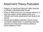attachment theory postulates1