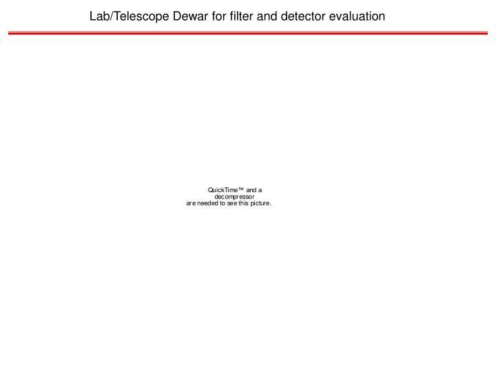 Lab/Telescope Dewar for filter and detector evaluation