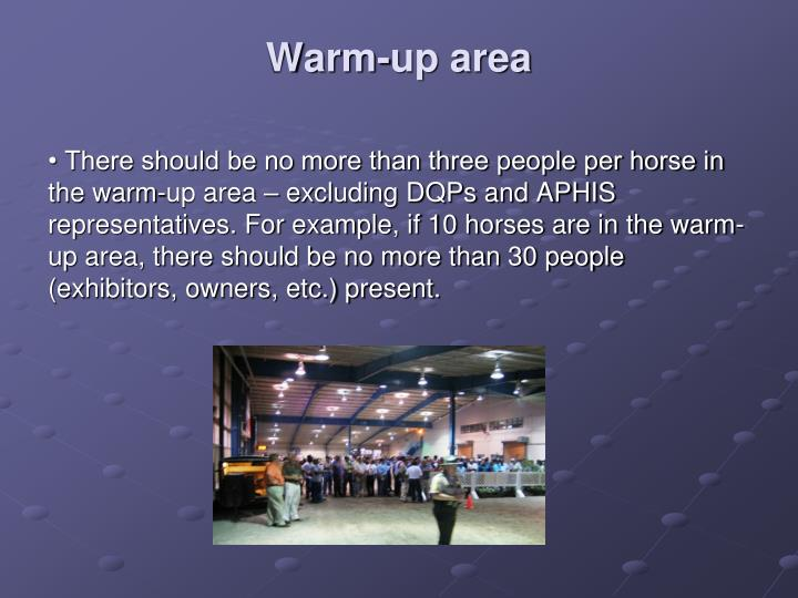 Warm-up area
