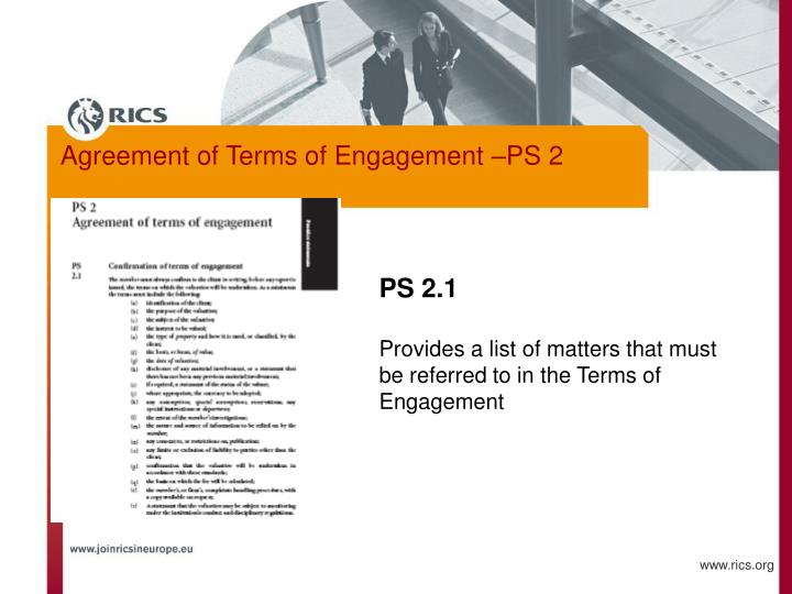 Agreement of Terms of Engagement –PS 2