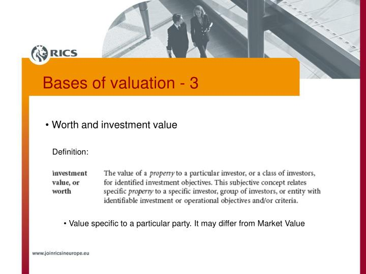 Worth and investment value