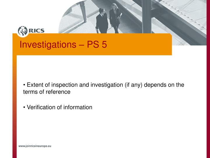 Extent of inspection and investigation (if any) depends on the terms of reference
