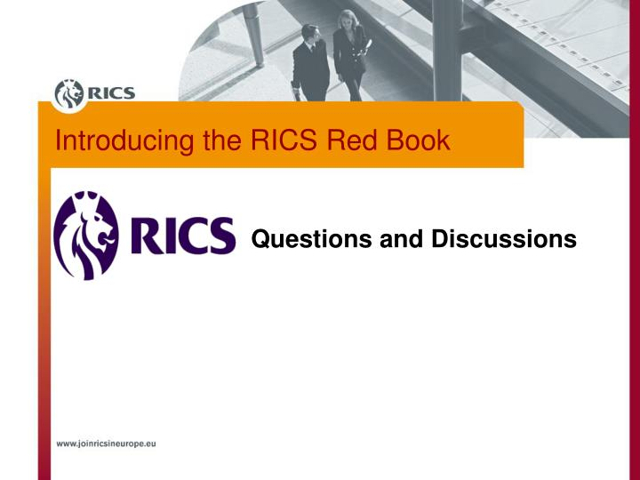Introducing the RICS Red Book