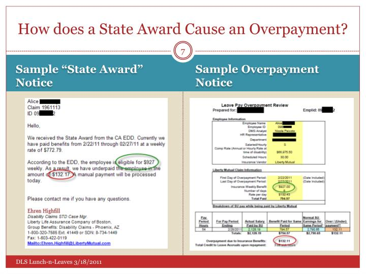 How does a State Award Cause an Overpayment?