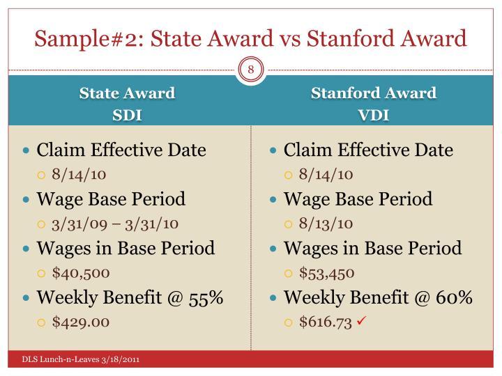 Sample#2: State Award