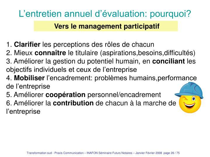 Vers le management participatif