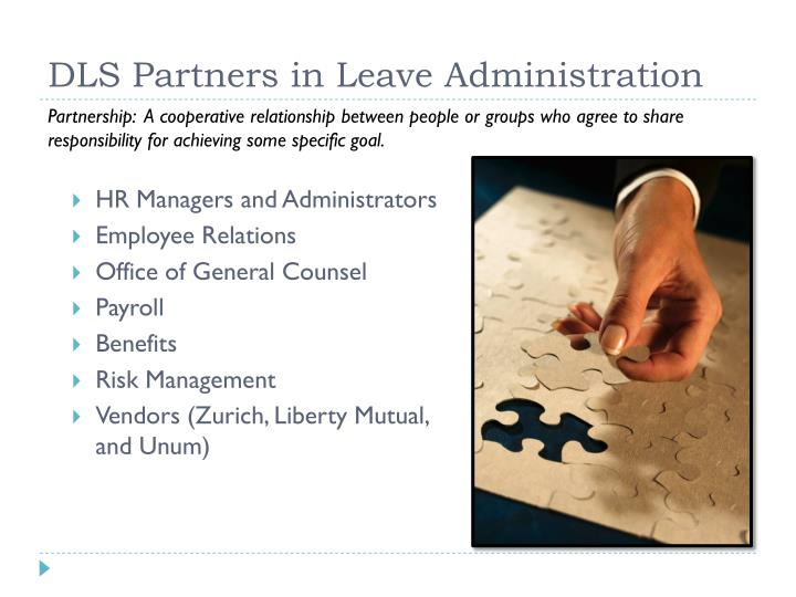 DLS Partners in Leave Administration