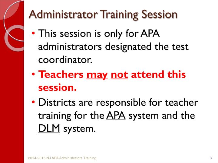 Administrator Training Session