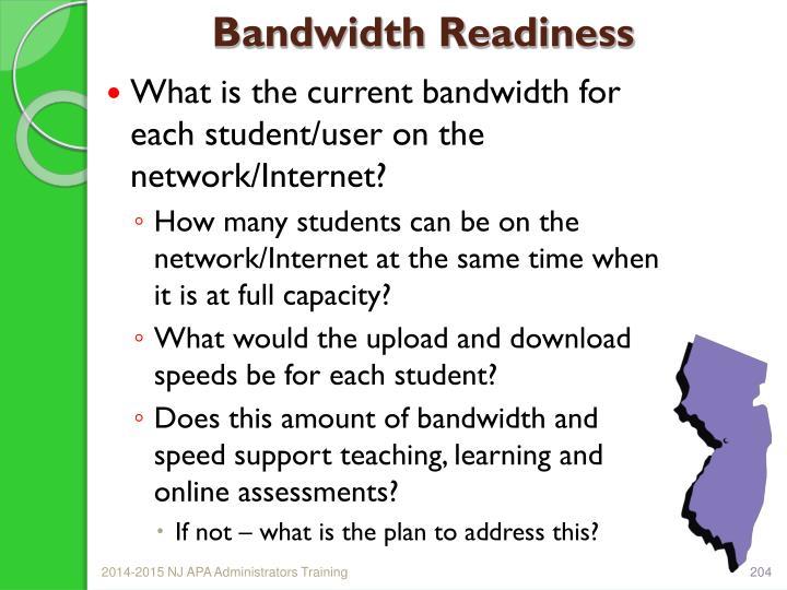 Bandwidth Readiness