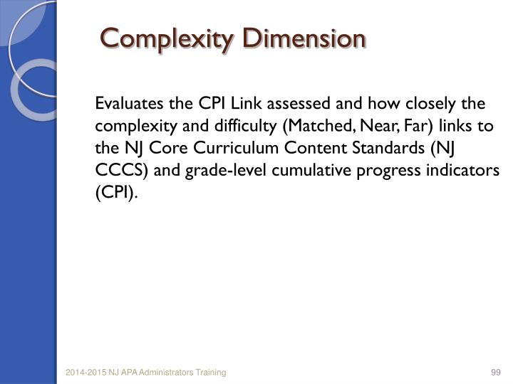 Complexity Dimension