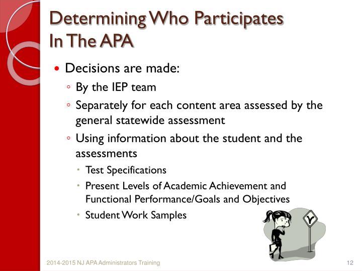 Determining Who Participates