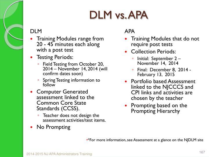 DLM vs. APA