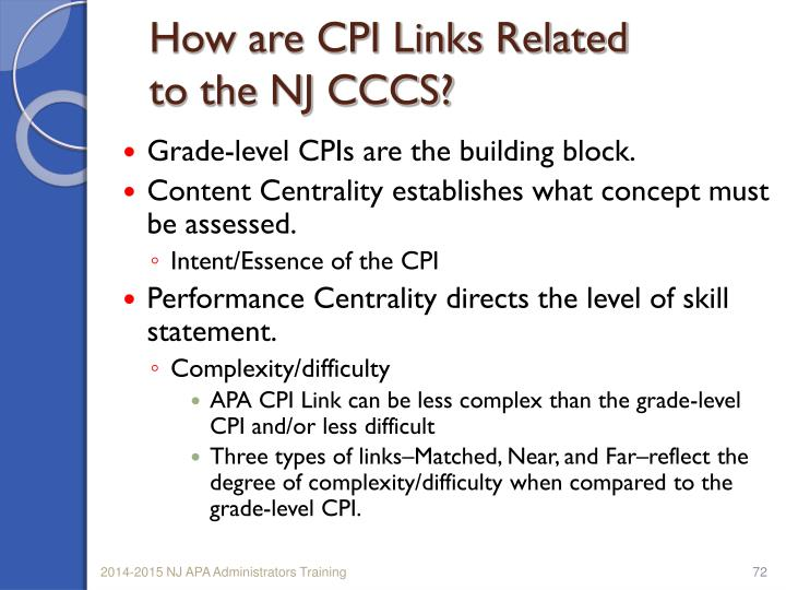 How are CPI Links Related