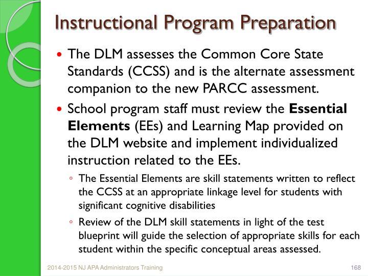 Instructional Program Preparation