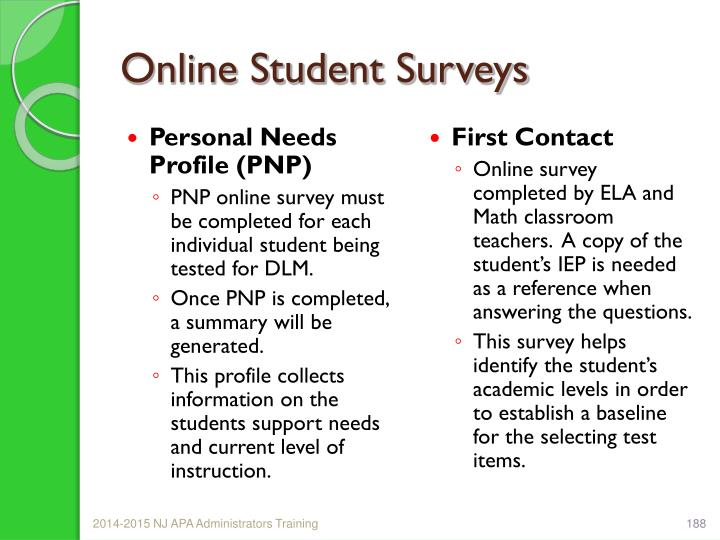 Online Student Surveys