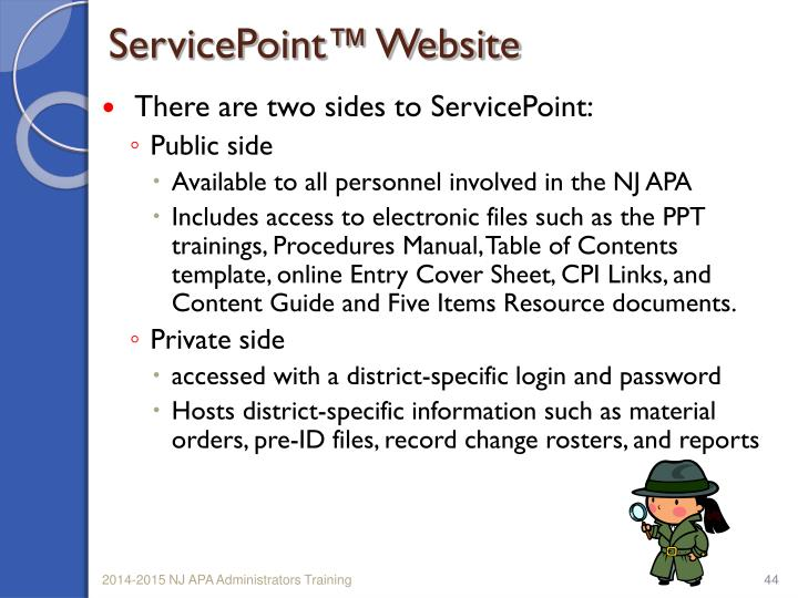 ServicePoint™ Website
