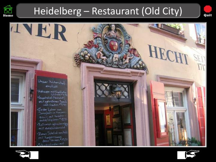 Heidelberg – Restaurant (Old City)