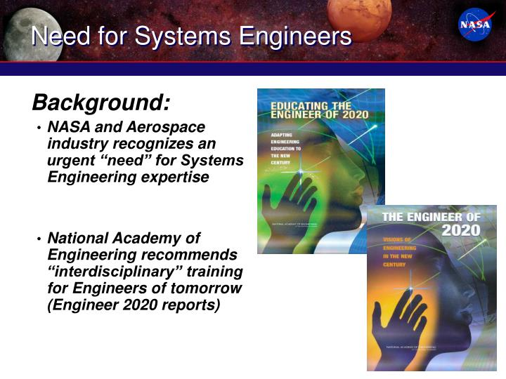 Need for Systems Engineers