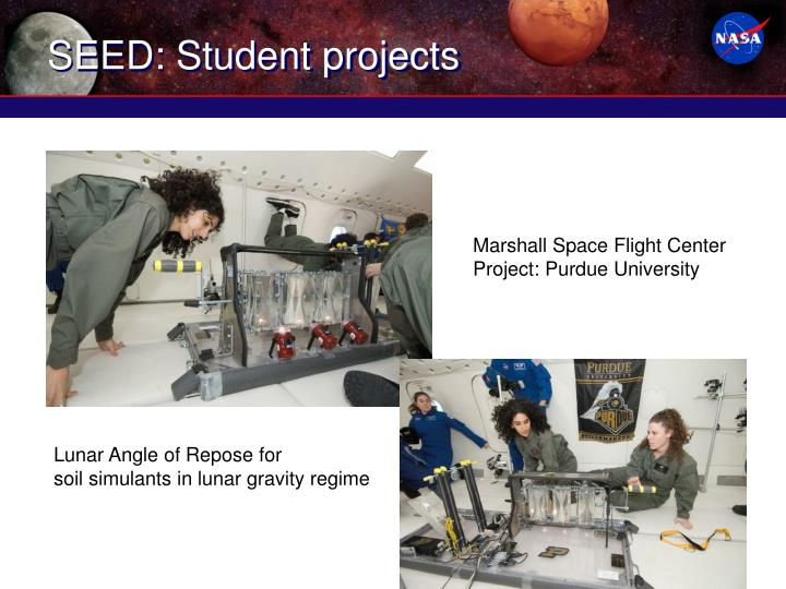 SEED: Student projects